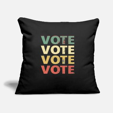 "Vintage Retro Design VOTE - 2020 Election Vote - Throw Pillow Cover 18"" x 18"""