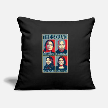 "The Squad - Alexandria, Ayanna, Ilhan, Rashida - Throw Pillow Cover 18"" x 18"""