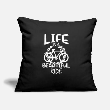 "Twowheeled Life Is A Beautiful Ride - Throw Pillow Cover 18"" x 18"""