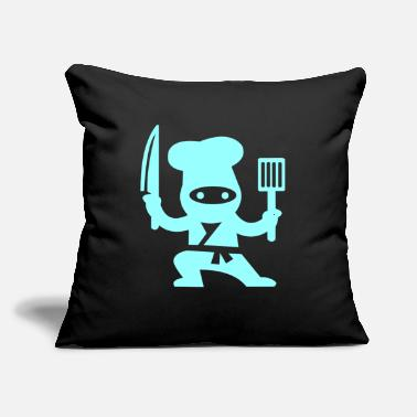 "Kitchen chef ninja - Throw Pillow Cover 18"" x 18"""