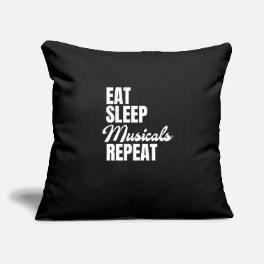 "Stage Stage Manager Eat Sleep Repeat Gift - Throw Pillow Cover 18"" x 18"""