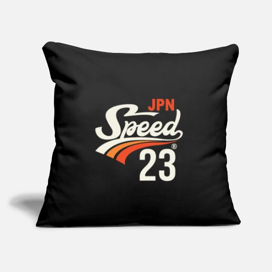 "Tokyo Pillow Cases - Speed 23 - Throw Pillow Cover 18"" x 18"" black"