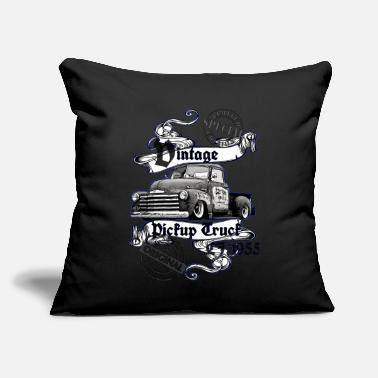 "Limited special Vintage Pickup Truck black white - Throw Pillow Cover 18"" x 18"""