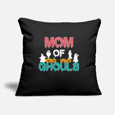 "Halloween Mom Of Ghouls - Throw Pillow Cover 18"" x 18"""