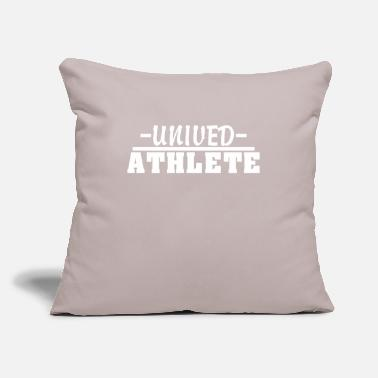 "Humour Humour unived athlete - Throw Pillow Cover 18"" x 18"""