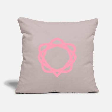"Shape heart shape design - Throw Pillow Cover 18"" x 18"""