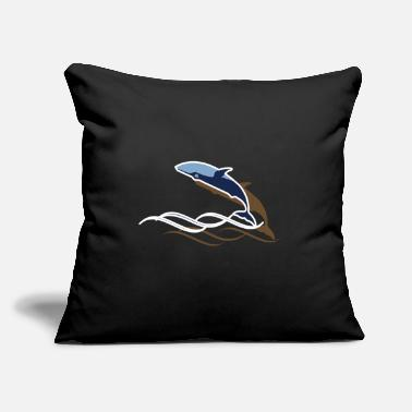 "Marine Whale - Throw Pillow Cover 18"" x 18"""