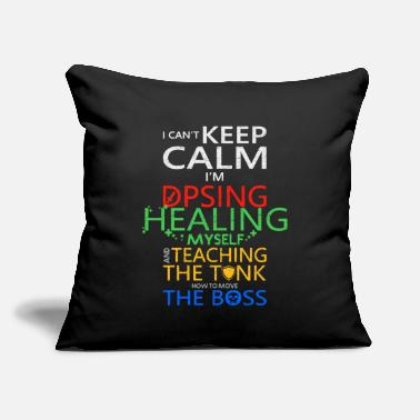 "Graphic Art World Of Warcraft I Can t Keep Calm I m DPSing - Throw Pillow Cover 18"" x 18"""