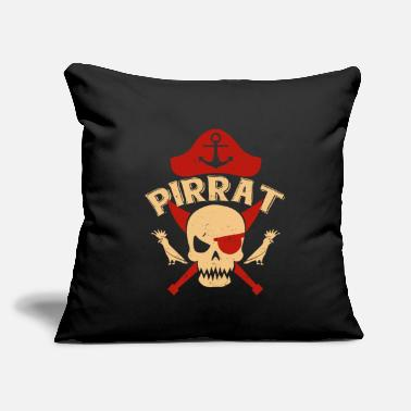 "Pirate Pirat - Throw Pillow Cover 18"" x 18"""