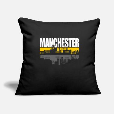 "Manchester Manchester - Throw Pillow Cover 18"" x 18"""