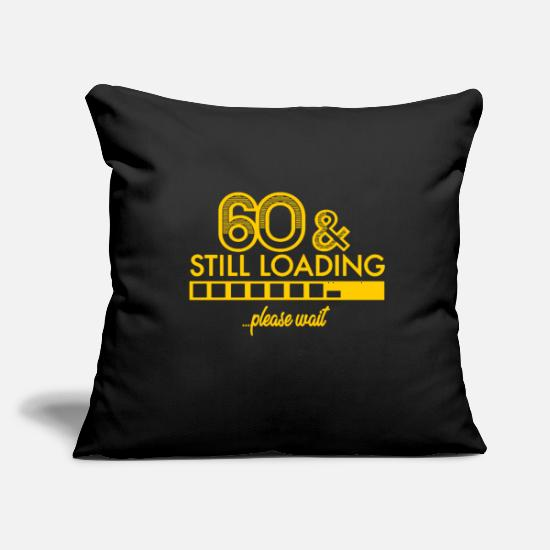 "Birthday Pillow Cases - 60. Birthday - Throw Pillow Cover 18"" x 18"" black"