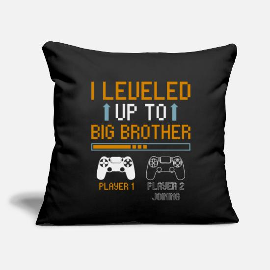 "Gift Idea Pillow Cases - brother - Throw Pillow Cover 18"" x 18"" black"