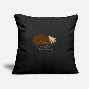 "Bike Spider Black widow arachnid tarantula gift - Throw Pillow Cover 18"" x 18"""