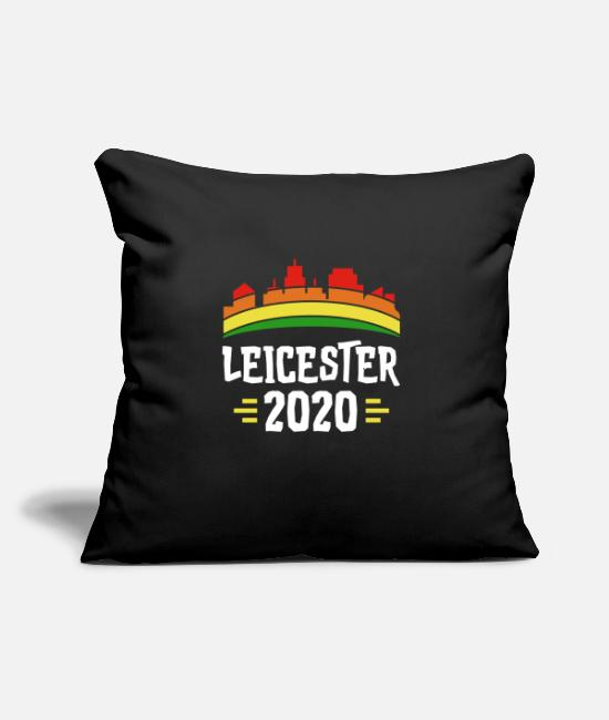 "Journey Leicester Pillow Cases - City Trip 2020 Leicester England - Throw Pillow Cover 18"" x 18"" black"