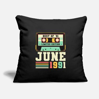 "Born In 30th Birthday June Gift Vintage 1991 30 Years - Throw Pillow Cover 18"" x 18"""