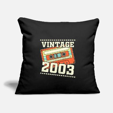 "Motto 18th Birthday Gift Vintage 2003 18 Years - Throw Pillow Cover 18"" x 18"""