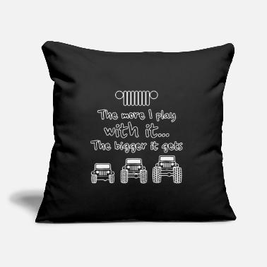 "The Bigger It The More I Play With It The Bigger It Gets - Throw Pillow Cover 18"" x 18"""