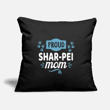 "Cool Awesome Funny Sweet Shar Pei Mom Sayings Gifts - Throw Pillow Cover 18"" x 18"""