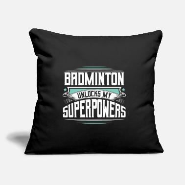 "Cute Awesome Unique Badminton Team Custom Sayings Club - Throw Pillow Cover 18"" x 18"""