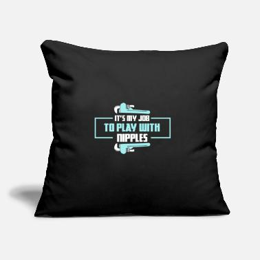 "Nipples Graphic Design Play With Nipples! - V2 - Gift - Throw Pillow Cover 18"" x 18"""