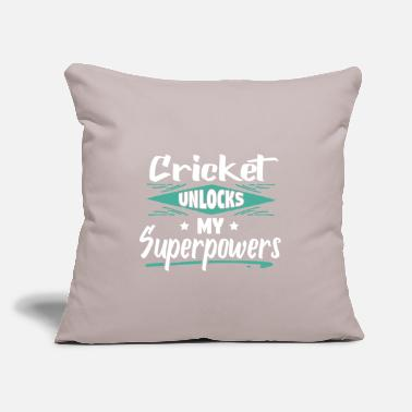 "Comics Cool Funny Cricket Champion Winner Superpowers - Throw Pillow Cover 18"" x 18"""