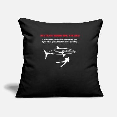 "Animals In The World This is the most dangerous animal in the world! - Throw Pillow Cover 18"" x 18"""