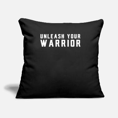 "Kitchen Warrior Unleash Your Warrior Workout Training Fitness - Throw Pillow Cover 18"" x 18"""