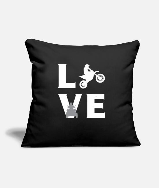 "Tank Pillow Cases - LOVE Motor sports - Throw Pillow Cover 18"" x 18"" black"