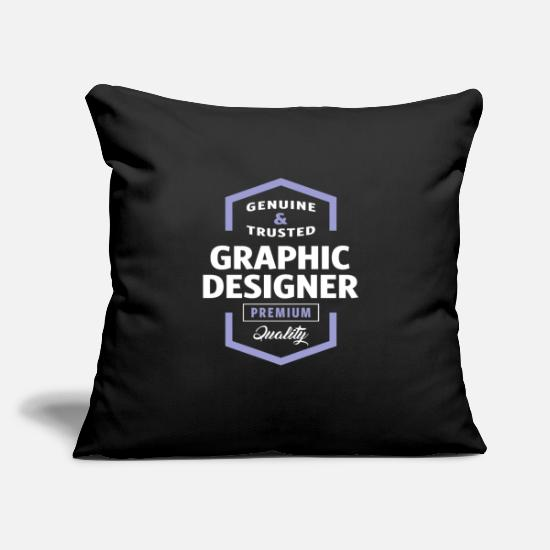 "Design Pillow Cases - Graphic Designer - Throw Pillow Cover 18"" x 18"" black"