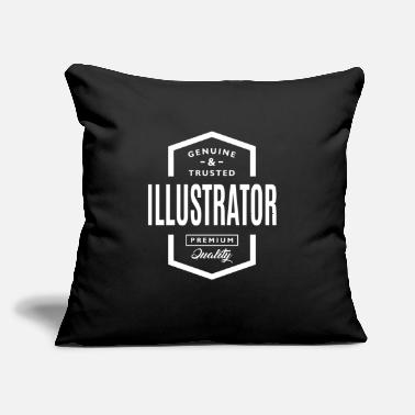 "Illustrator Illustrator - Throw Pillow Cover 18"" x 18"""
