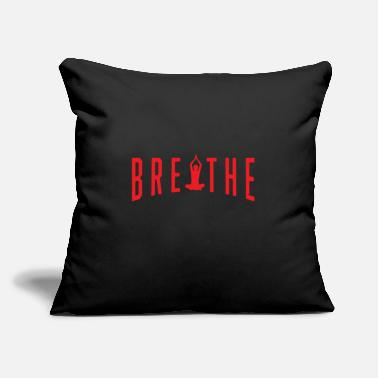 "Meditation Funny Meditation Meditating Breathe And Meditate - Throw Pillow Cover 18"" x 18"""