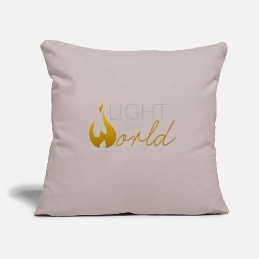 "World Light of the World Logo Gold - Throw Pillow Cover 18"" x 18"""