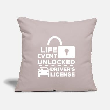 "License Driver's License - Throw Pillow Cover 18"" x 18"""