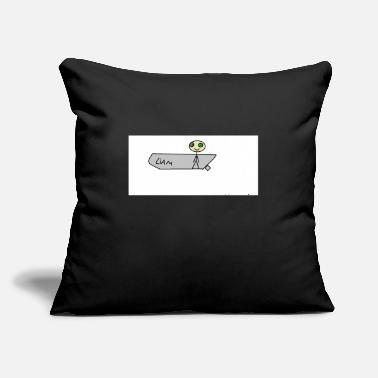 "Stick Man stick man - Throw Pillow Cover 18"" x 18"""