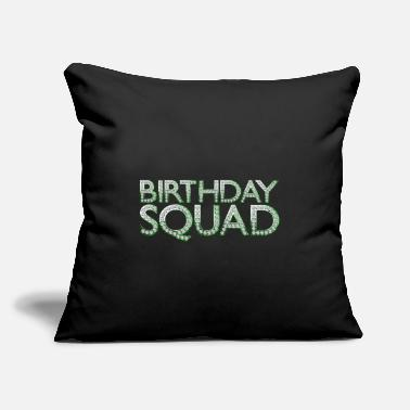 "Hollywood Birthday Squad - Throw Pillow Cover 18"" x 18"""