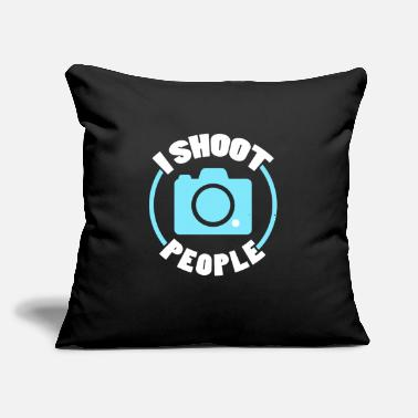 "Photographer I Shoot People Funny Photographer Camera - Throw Pillow Cover 18"" x 18"""