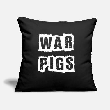 "Humorous Sayings War Pigs Saying Quotes Humor - Throw Pillow Cover 18"" x 18"""