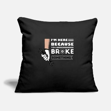 "Mechanic Mechanic, Mechanic mechanical, truck - Throw Pillow Cover 18"" x 18"""