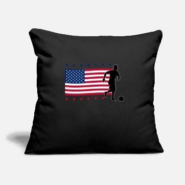 "America 4th of july, 4th of july bowling, bowling, USA - Throw Pillow Cover 18"" x 18"""