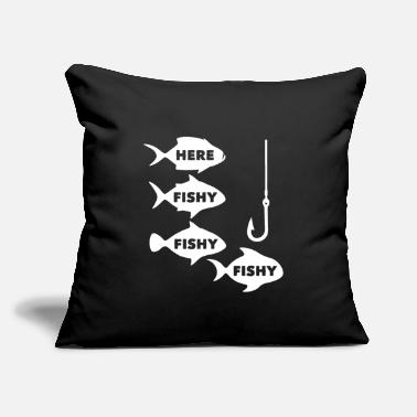 "Fisher Fisher - Throw Pillow Cover 18"" x 18"""