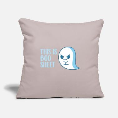 "Sheet This is Boo Sheet - Throw Pillow Cover 18"" x 18"""