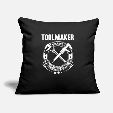 "Tool And Die Toolmaker Machinist design - Throw Pillow Cover 18"" x 18"""