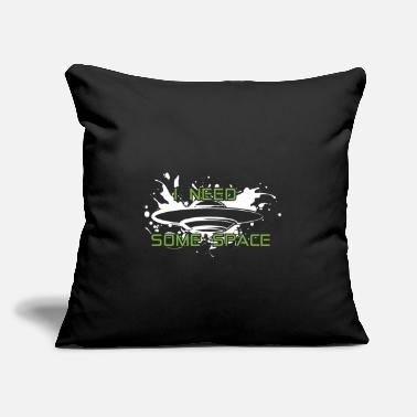 "Sci-fi UFO i need some space aliens saying splash - Throw Pillow Cover 18"" x 18"""