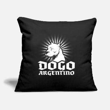 "Dogo Dogo Argentino - Throw Pillow Cover 18"" x 18"""