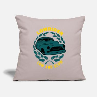 "Slow Lowrider Low And Slow Geschenk - Throw Pillow Cover 18"" x 18"""