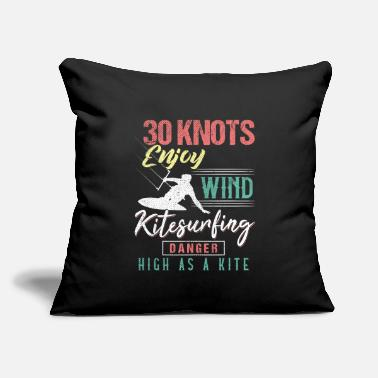"Knot Humor 30 Knots Kitesurfing - Throw Pillow Cover 18"" x 18"""