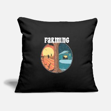 "Countryside Farming all year Farmer Gamer PC console harvest - Throw Pillow Cover 18"" x 18"""
