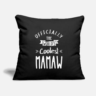 "Mamaw Coolest Mamaw - Throw Pillow Cover 18"" x 18"""