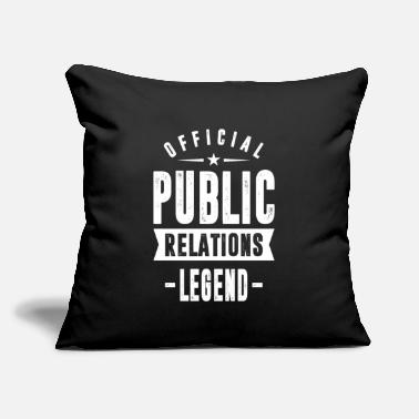 "Relation Public Relations - Throw Pillow Cover 18"" x 18"""
