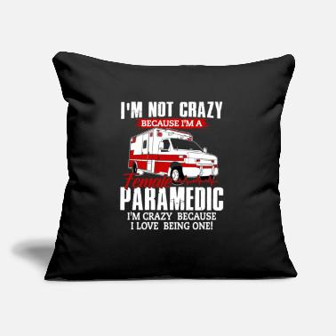 "Rescue Services Paramedic Shirt - Rescue Service - Crazy - Throw Pillow Cover 18"" x 18"""